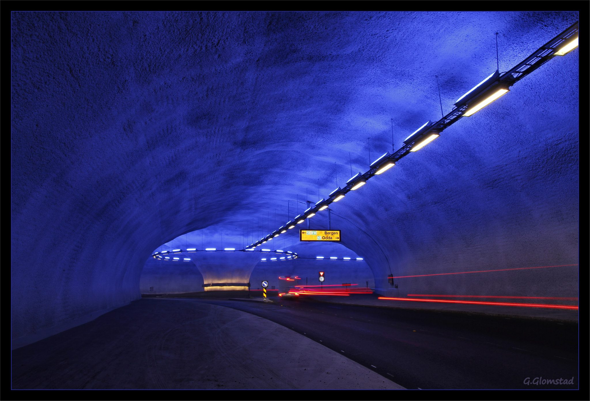 The Bu Tunnel connecting to the Hardanger Bridge. -© Geir Glomstad