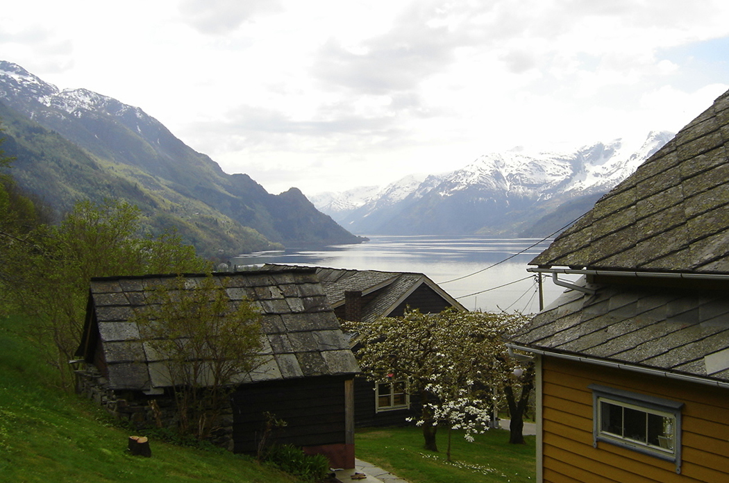 The Sørfjord as seen from the farmyard in Lofthus - © Anne Gullbjørg Digranes