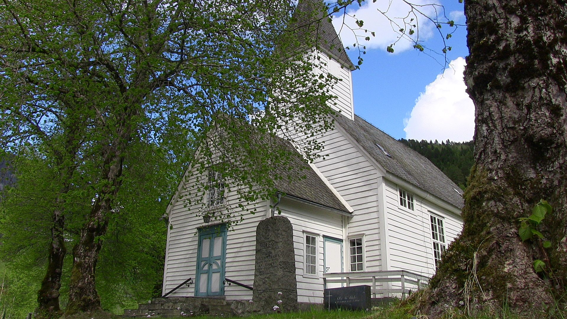Granvin Church, built in 1726, designated as a Norwegian cultural heritage site in 2012.  © Anne Gullbjørg Digranes