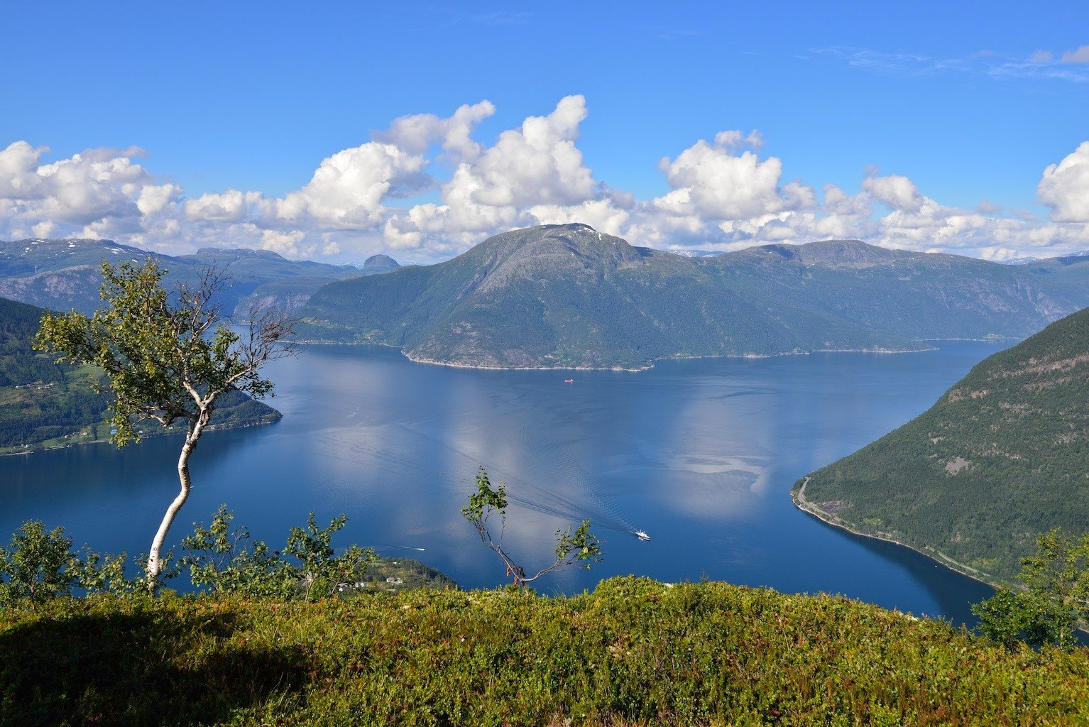 View from The Queen's Path.  © Visit Hardangerfjord / Foto Øyvind Heen